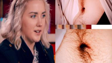 'I'm too hairy to date': Woman's embarrassment over her thick stomach fuzz