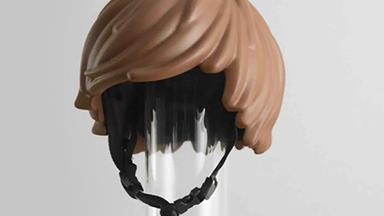 This LEGO hair bike helmet might be the best invention ever