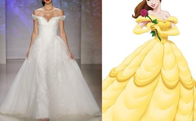 These Disney Princess-inspired wedding gowns are positively dreamy