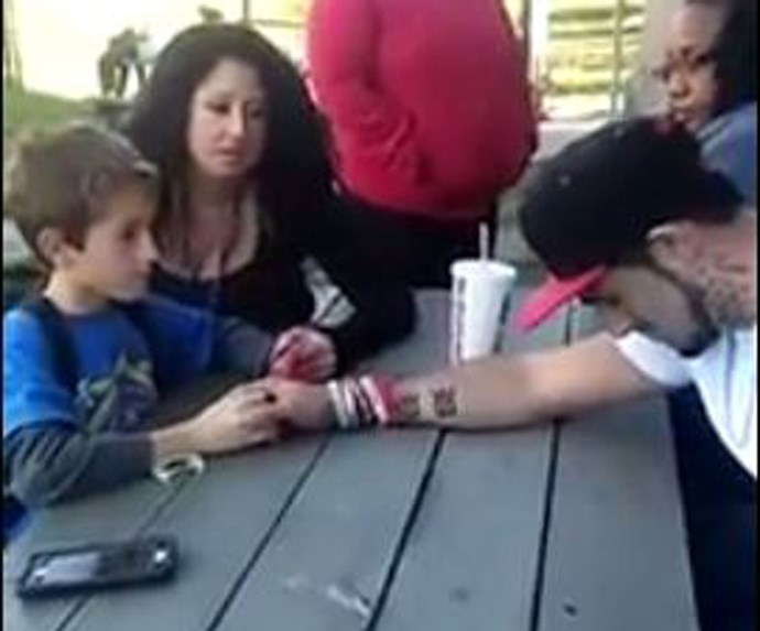 Viral video of dad telling son Mum died from drugs: Too far?