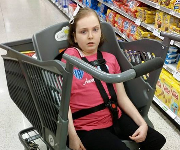 Mother of a child with special needs invents shopping trolley for disabled kids and seniors
