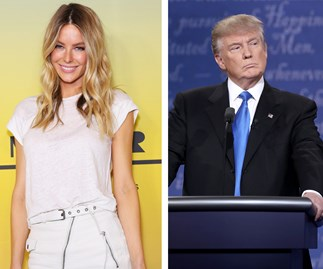 Jennifer Hawkins and Donald Trump
