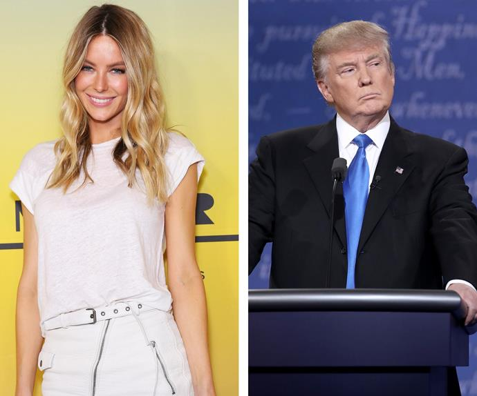 Jennifer Hawkins and Donald Trump