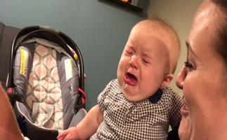 Watch this baby get jealous every time her parents kiss