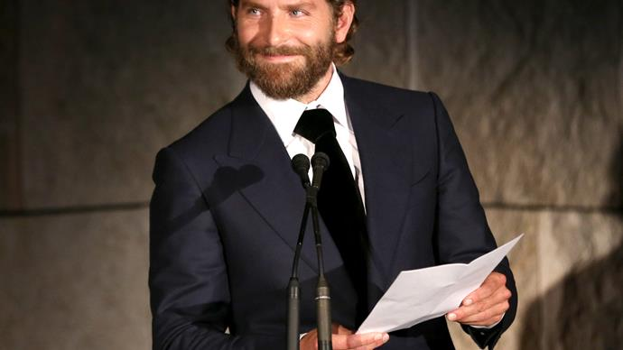 Bradley Cooper crashes an old mate's wedding - and catches the bouquet!