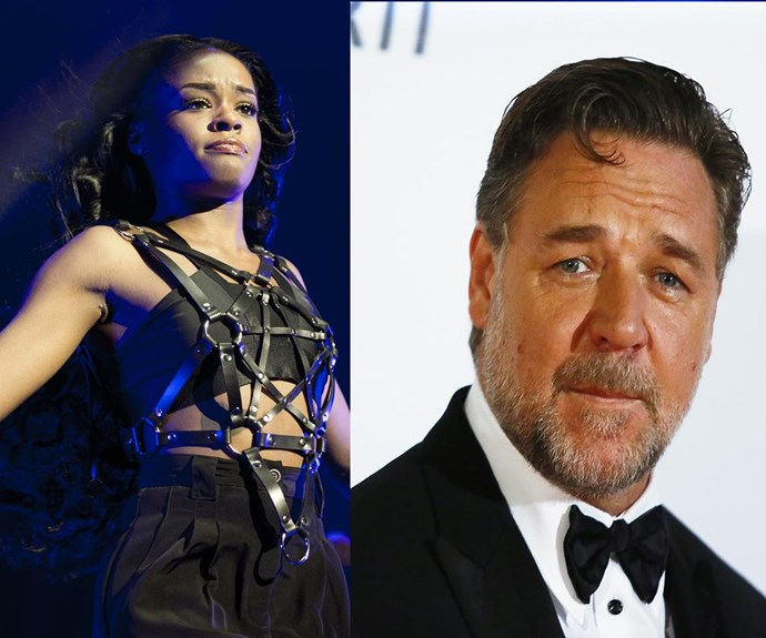 Azealia Banks Russel Crowe access hollywood
