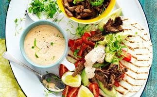 Mexican beef wraps
