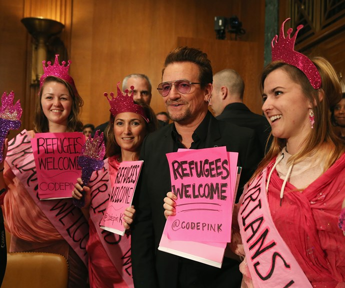 Not everyone is happy Bono has been given Glamour's 'Woman of the Year' award