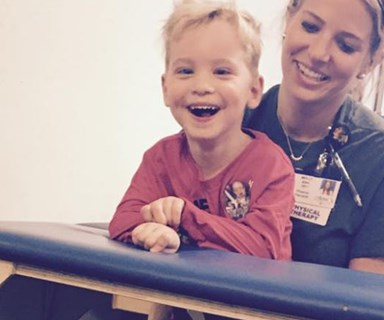 WATCH four-year-old boy with cerebral palsy walks for the first time
