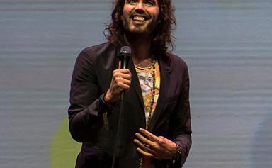 Comedian Russell Brand becomes a first-time dad