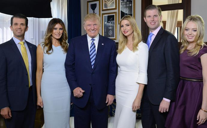 Why is Barron Trump missing from the family Christmas card?