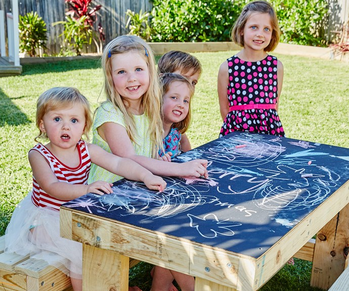 How to build a chalk table for the kids