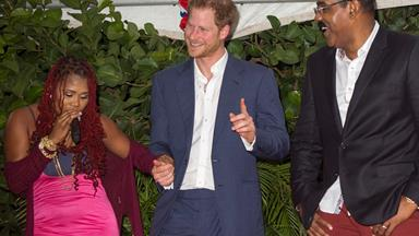 "Antiguan Prime Minister teases Prince Harry about his ""honeymoon"" with Meghan Markle"