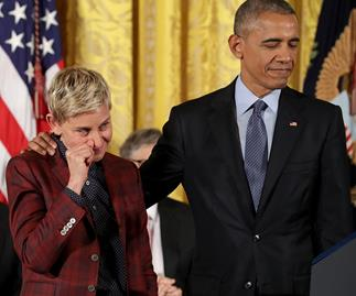 The beautiful reason why Obama had Ellen in tears