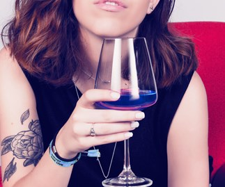 Blue wine is a thing and this is not a drill