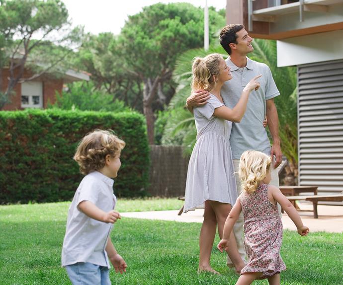 family home backyard