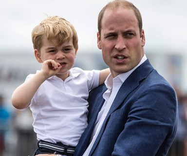 Prince William says Prince George loves trains