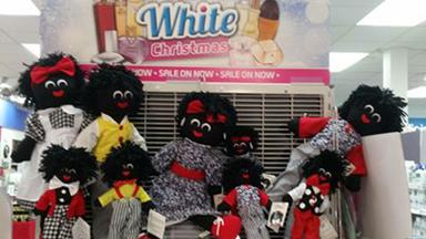 Chemist in Toowoomba branded racist over 'golliwog' Christmas display