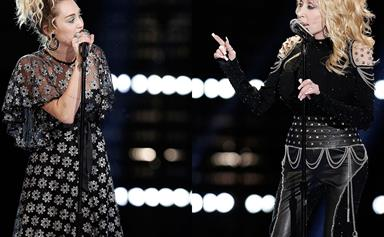 Watch Dolly Parton duet with goddaughter Miley Cyrus on The Voice