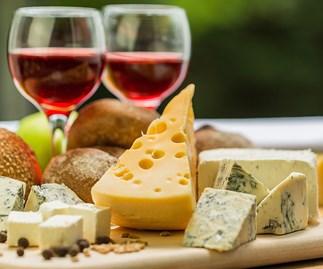 Wine and cheeseboard