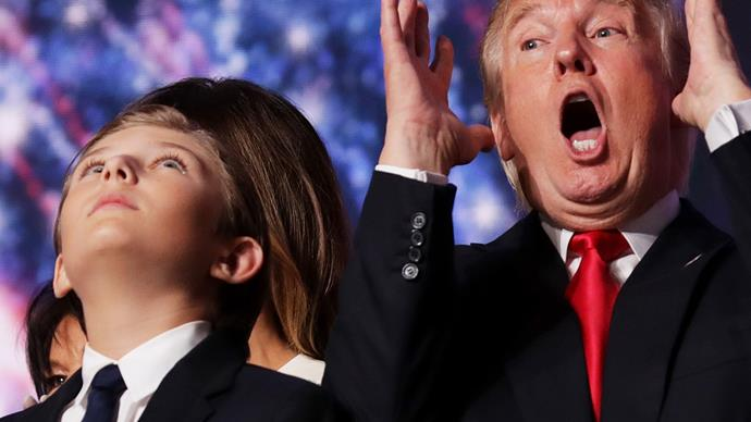 Donald Trump and Barron Trump