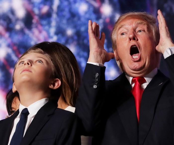 Donald Trump and Barron Trump