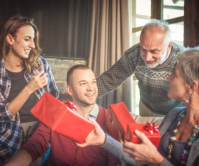 family Christmas gift exchange