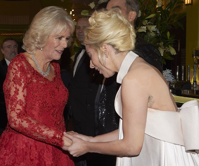 The Duchess of Cornwall met Lady Gaga and sweetly told her they share a nickname