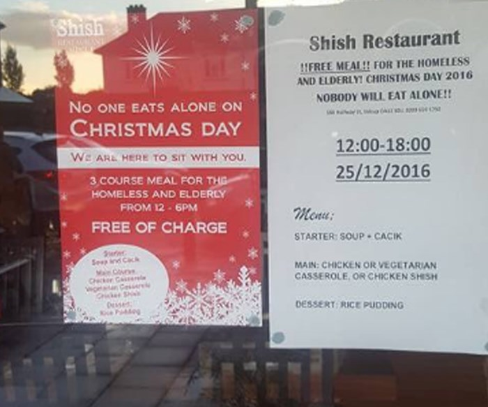 Muslim-owned restaurant offers free Christmas meals for those in need
