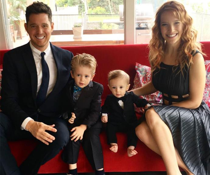 Michael Buble, Luisana Lopilato, Noah Buble
