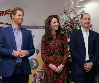 Prince William, the Duchess of Cambridge and Prince Harry attended charity Christmas party together