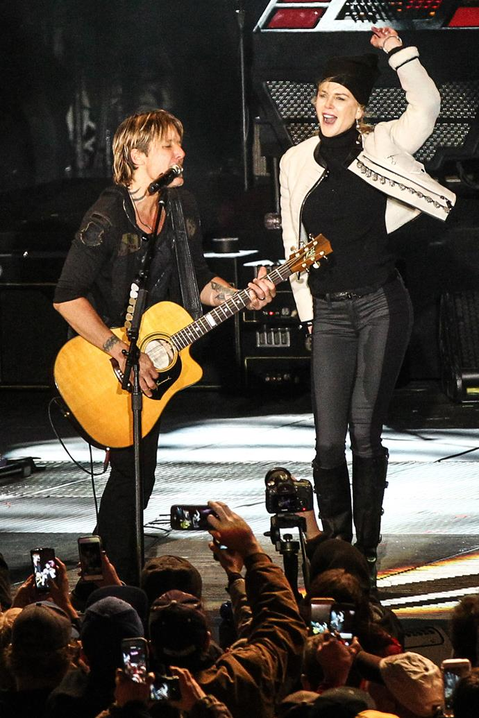Keith was performing at last year's CNN's New Year's Eve gig in Nashville when Nic joined him on stage.