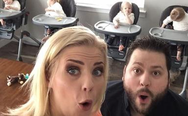 Mum of quadruplets sums up parenthood in 30 seconds