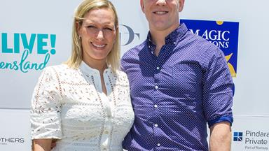 Zara Phillips' first public appearance following her miscarriage
