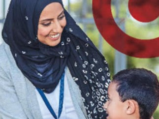 Target source of debate for using hijab-wearing model