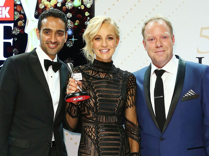 The Project's Carrie Bickmore, Waleed Aly and Peter Helliar