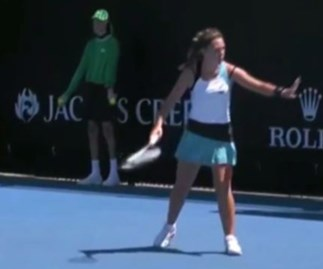 Tennis player disqualified from Australian Open for hitting a ballkid with a ball