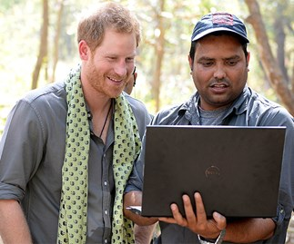 prince harry laptop
