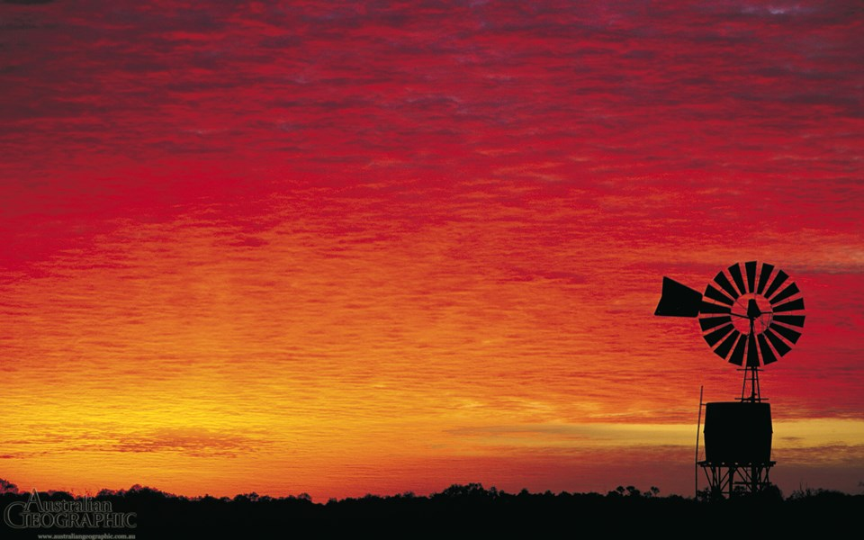 Outback Sunset Northern Territory Australian Geographic
