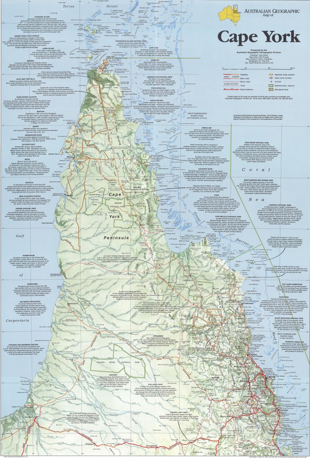 Cape York Map Cape York Peninsula map   Australian Geographic Cape York Map