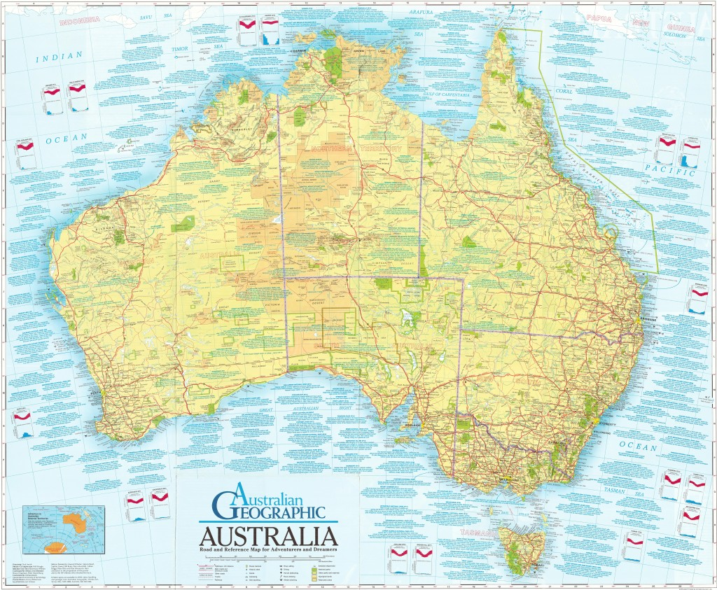 Adventurers and Dreamers map Australian Geographic
