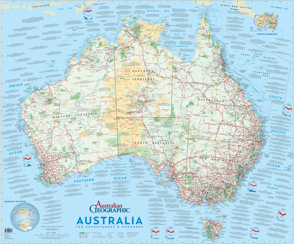 Adventures and dreamers Australia map Australian Geographic