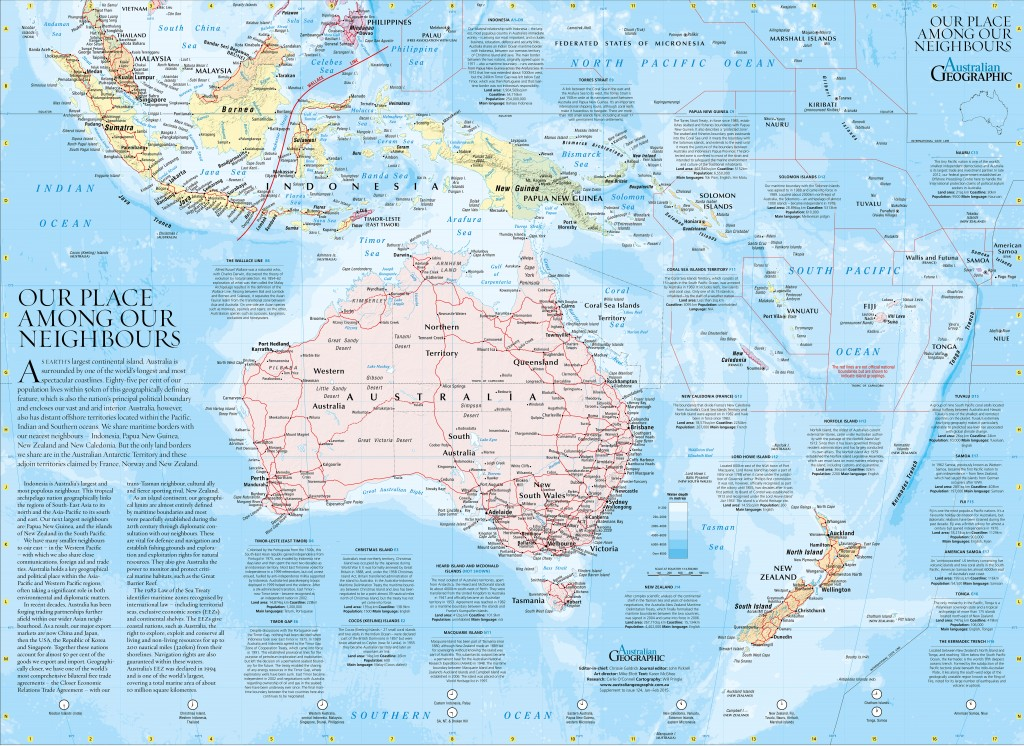 Australia And Pacific Map.Asia Pacific Map Australian Geographic