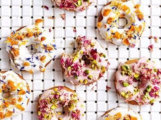 Peaches & cream gluten- and dairy-free doughnuts