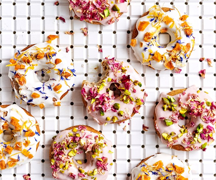 Peaches & cream gluten- and dairy-free doughnuts
