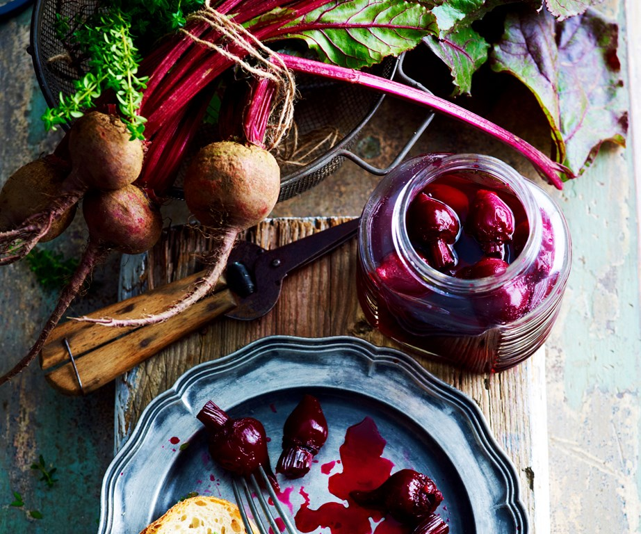 "**Beetroot** are in season in June which makes it the perfect time to pop some [pickled beetroot](https://www.womensweeklyfood.com.au/recipes/pickled-beetroot-15126|target=""_blank"") on the shelf. This roasted [beetroot salad with walnuts and feta](https://www.womensweeklyfood.com.au/recipes/salad-of-roasted-beetroot-with-goats-cheese-and-walnuts-12223