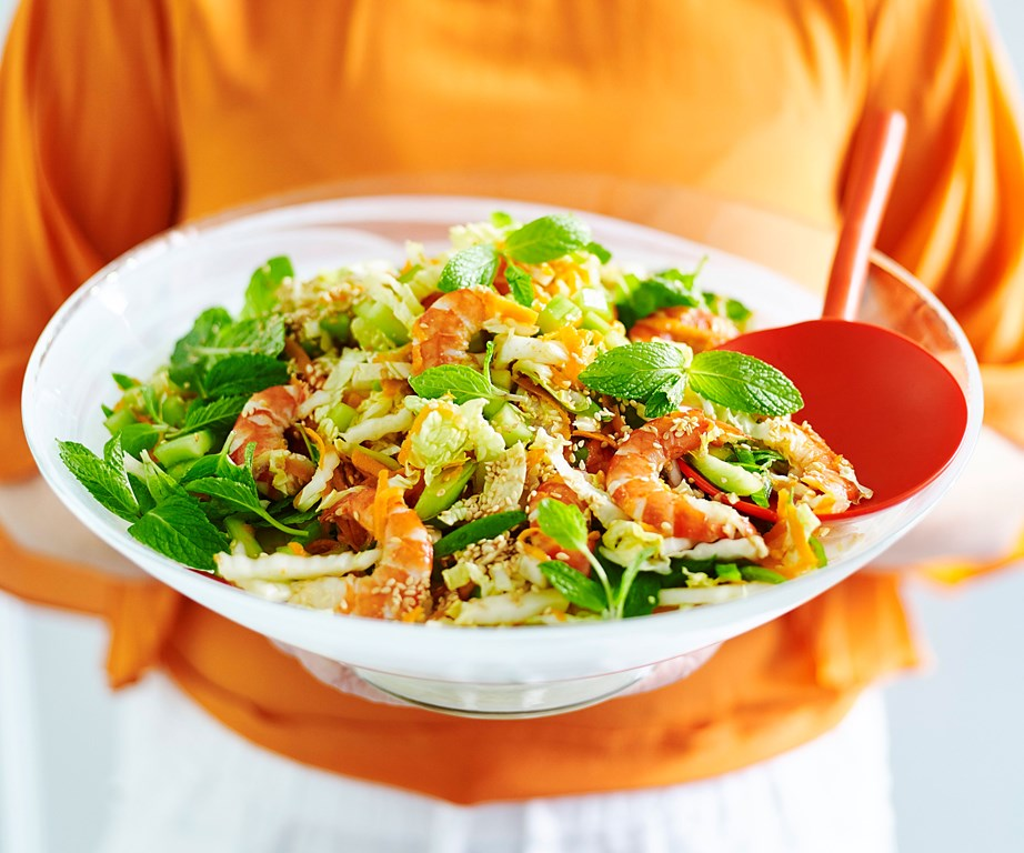 """Quick, fresh, and tasty - this **[prawn slaw with lime and sesame dressing](https://www.womensweeklyfood.com.au/recipes/prawn-slaw-30812 target=""""_blank"""")** makes the most of deliciously dressed seasonal prawns and is set to be a staple dish at every barbecue."""