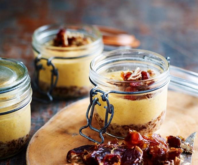 no bake pumpkin pies in jars
