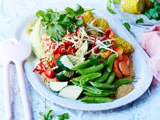 Vegetable gado gado with satay peanut sauce