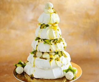 tropical meringue pavlova christmas tree